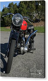 1934 Ariel Motorcycle Front View Acrylic Print by Robert Torkomian