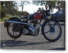 1934 Ariel Motorcycle Side View Acrylic Print by Robert Torkomian