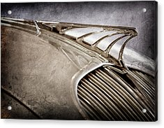 Acrylic Print featuring the photograph 1934 Desoto Airflow Coupe Hood Ornament -2404ac by Jill Reger