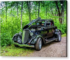 1934 Ford 3 Window Coupe Acrylic Print by Ken Morris