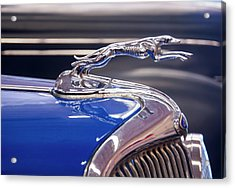 Acrylic Print featuring the digital art 1934  Ford Greyhound Hood Ornament by Chris Flees