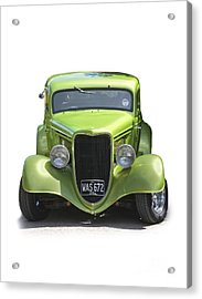 1934 Ford Street Hot Rod On A Transparent Background Acrylic Print