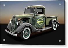 1935 Ford Pickup Truck  -  1935fordtruck9735 Acrylic Print by Frank J Benz