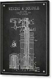 1935 Mining A Soluble Patent En39_cg Acrylic Print by Aged Pixel