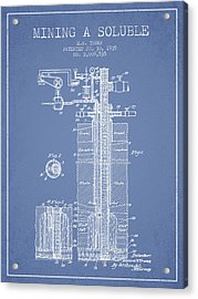1935 Mining A Soluble Patent En39_lb Acrylic Print