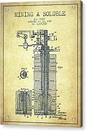 1935 Mining A Soluble Patent En39_vn Acrylic Print