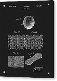 Acrylic Print featuring the mixed media 1935 Tennis Ball Patent by Dan Sproul