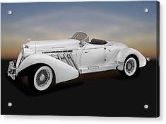 Acrylic Print featuring the photograph 1936 Auburn Supercharged Speedster Convertible  -  1936auburnspeedster170552 by Frank J Benz