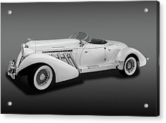 Acrylic Print featuring the photograph 1936 Auburn Supercharged Speedster Convertible  -  1936auburnsupcgdspeedfa170552 by Frank J Benz