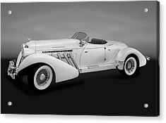 Acrylic Print featuring the photograph 1936 Auburn Supercharged Speedster Convertible  -  1936auburnsuperchargedgry170552 by Frank J Benz