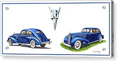 1936 Cadillac Aerodynamic Coupe Acrylic Print