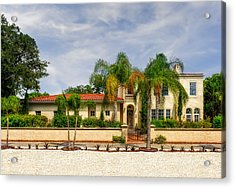 1936 Mediterranean Style Home - 61 Acrylic Print by Frank J Benz