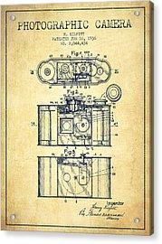 1936 Photographic Camera Patent - Vintage Acrylic Print