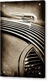 Acrylic Print featuring the photograph 1936 Pontiac Hood Ornament -1140s by Jill Reger