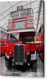 1937 Aec Regent I Bus Stl2377 Acrylic Print