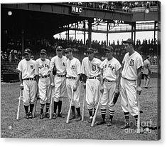 1937 All Star Baseball Players Acrylic Print by Jon Neidert