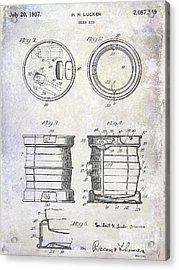 1937 Beer Keg Patent Acrylic Print