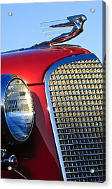 1937 Cadillac V8 Hood Ornament 2 Acrylic Print