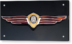 1937 Dodge Brothers Emblem Acrylic Print by Roger Mullenhour