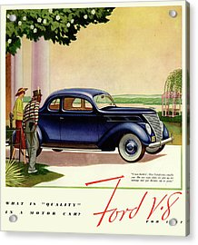 1937 Ford Car Ad Acrylic Print