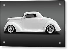 Acrylic Print featuring the photograph 1937 Ford Coupe  -  1937ford3wincoupefa172185 by Frank J Benz