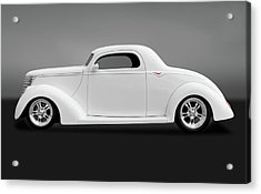 Acrylic Print featuring the photograph 1937 Ford Coupe  -  1937ford3windowcpegry172185 by Frank J Benz