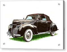 1937 Lincoln Zephyer Acrylic Print by Jack Pumphrey