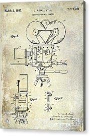 1937 Movie Camera Patent Acrylic Print