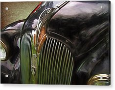 1937 Plymouth Hood Ornament Painterly Impressions Acrylic Print