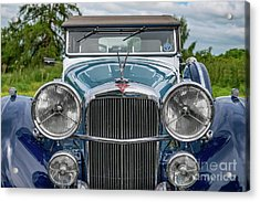 1938 Blue Alvis Acrylic Print by Adrian Evans