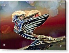 1938 Cadillac V-16 Sedan Hood Ornament Acrylic Print by Jill Reger
