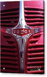 1938 Dodge Pickup Front End Acrylic Print by Anna Lisa Yoder