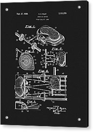 1938 Exercise Device Patent Acrylic Print by Dan Sproul