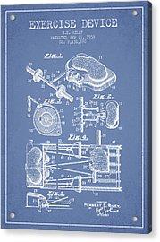 1938 Exercise Device Patent Spbb09_lb Acrylic Print