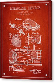 1938 Exercise Device Patent Spbb09_vr Acrylic Print