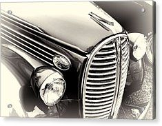 1938 Ford Pickup Truck Black And White Acrylic Print