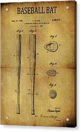 1939 Baseball Bat Patent Acrylic Print