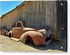 1939 Buick, Beautifully Rusted Acrylic Print by Daniel Furon