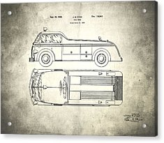 1939 Fire Truck Patent Acrylic Print