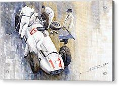 1939 German Gp Mb W154 Rudolf Caracciola Winner Acrylic Print by Yuriy  Shevchuk