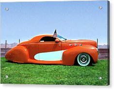 1939 Lincoln Zephyr Coupe Acrylic Print