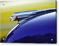 1939 Pontiac Coupe Hood Ornament Acrylic Print by Jill Reger