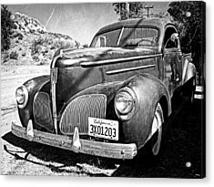 1939 Studebaker Coupe Truck Acrylic Print by Glenn McCarthy Art and Photography