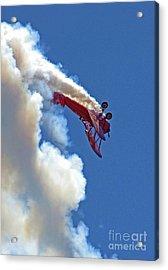 1940 Boeing Stearman Biplane Stunt 2 Acrylic Print