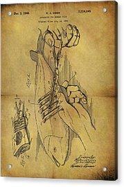 1940 Boning Fish Patent Acrylic Print