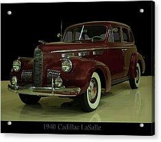 1940 Cadillac Lasalle Acrylic Print