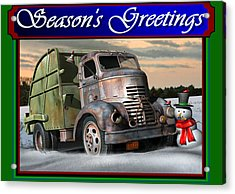 1940 Gmc Christmas Card Acrylic Print by Stuart Swartz