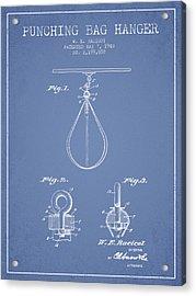 1940 Punching Bag Hanger Patent Spbx13_lb Acrylic Print by Aged Pixel