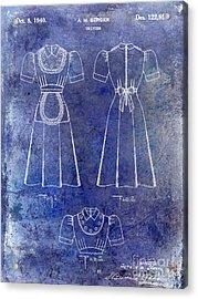 1940 Waitress Uniform Patent Blue Acrylic Print by Jon Neidert