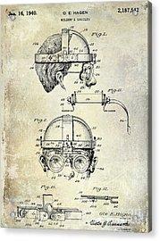 1940 Welders Goggles Acrylic Print by Jon Neidert